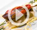 receta bacalao ensalada con pimientos asados y hierbas aromáticas
